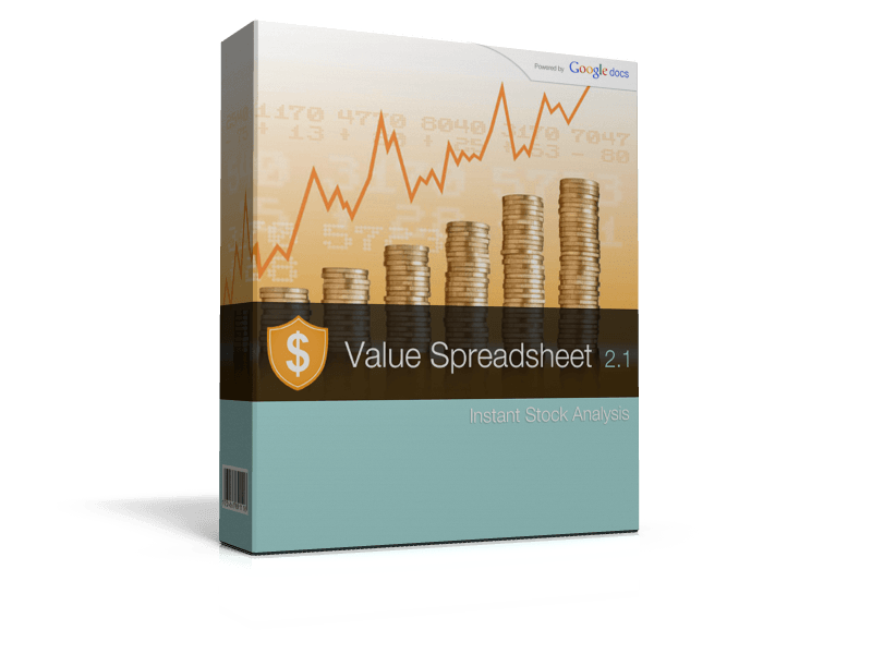 value investing spreadsheet shop